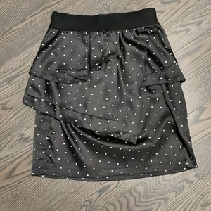 Polkadot satin skirt